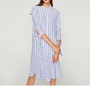 Zara Striped Dress w/Frills